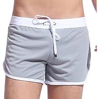 Honghu Hombre Dry Fit Performance Pantalones cortos Gris Tamaño L