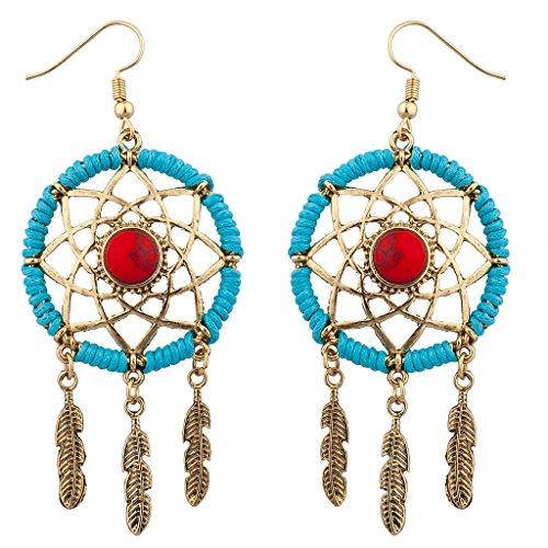 Lux accessori oro Burnish Festive Boho Acchiappasogni Orecchini