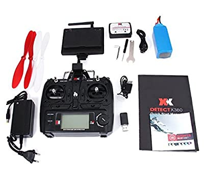 XK Detect X380 X 380-C RC Drone FPV GPS Drone 2.4G 4CH 1080P HD Camera GPS Function RTF Multicopter RC Helicopter Quadcopter from XK