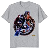 Marvel Avengers Infinity War Neon Team Graphic Fiuywev Hotsale Men T-Shirt-Grey