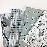 Pack Fat Quarter, 4 modelos de telas coordinadas de diseño nórdico para manualidades y patchwork