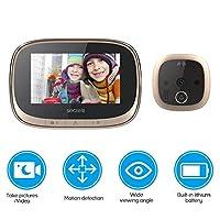 كاميرا أمان المنزل من Mainstayae متعددة الوظائف على شكل عين قطة ذكية جرس باب بصري لتصوير الفيديو وأكسسوارات الغرف (فضي) MHLMAINSTAYAEH32946GCTSA