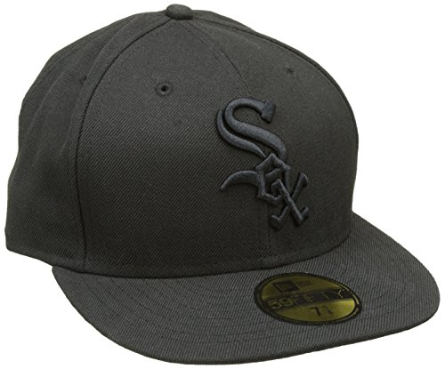 New Era Erwachsene Baseball Cap Mütze Mlb Basic NY Yankees 59Fifty Fitted Chicago  White Sox 59FIFTY Black on Black b35aa8d45f