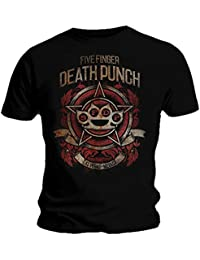 Official T Shirt Five Finger Death Punch ~ Badge of Honour XXL