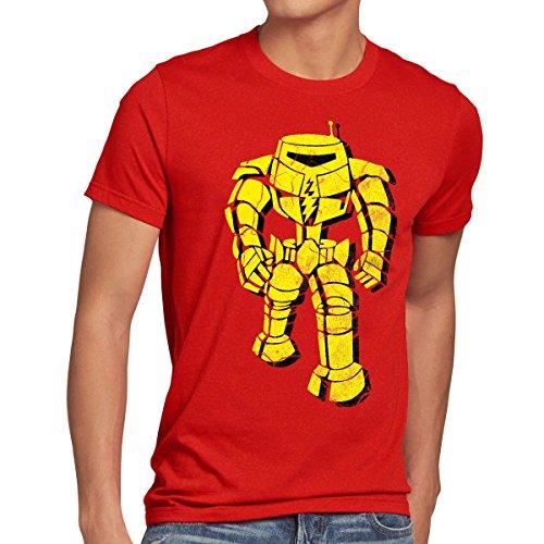 style3 Walking Robot Nr.1 Herren T-Shirt, Größe:XL;Farbe:Rot - Walking-spielzeug-roboter
