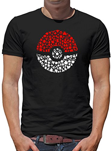 TLM Poke T-Shirt Herren M Schwarz (Billig Gohan Kostüm)