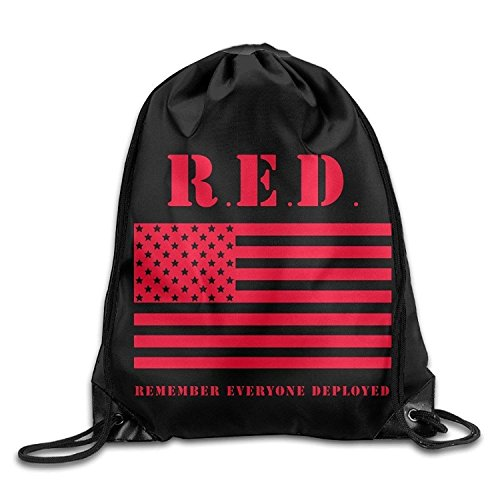 Etryrt Turnbeutel/Bedruckte Sportbeutel, Premium Drawstring Gym Bag, Fashion Remember Everyone Deployed Drawstring Backpack String Bag -