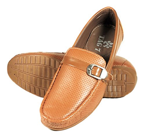 ROYAL KURTA Tag 7 Men's Tan Leather Loafers 8 Tan