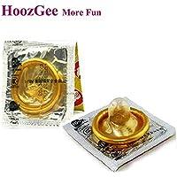 Portal Cool HoozGee Calidad Oro Condón Productos del sexo Condones de látex naturales para hombre Adulto Mejores juguetes sexuales Anticoncepción más segura 10 unids/lote