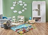 Keymura Moderner Teppich mit schönem Druck/Design Fahrzeuge, Feuerwehr | Größe: 120x170 cm - Qualität, Design, Modern zu einem Hammerpreis! Für Kinderzimmer, Wohnzimmer, Flur, Schlafzimmer geeignet!