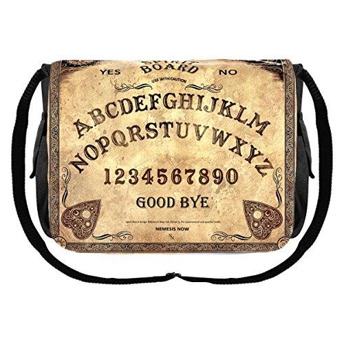 icca Pagan Hexe Magier Schultertasche Tasche Messenger Bag Hexenbrett Ouija Board Talking Board Pentagramm (Pagan Hexe Kostüm)