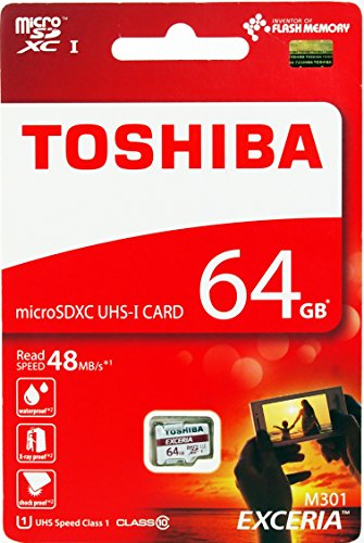 Toshiba 64GB Exceria M301 MicroSD Card SDXC senza adattatore