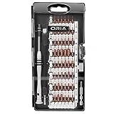 ORIA 60 in 1 S2 Präzision Schraubendreher Set mit 56 Bit Magnet Schraubendreher Kit Elektronik Reparatur Tool Kit für iPhone und alle elektronischen Geräte, Weitere Starke - Schwarz