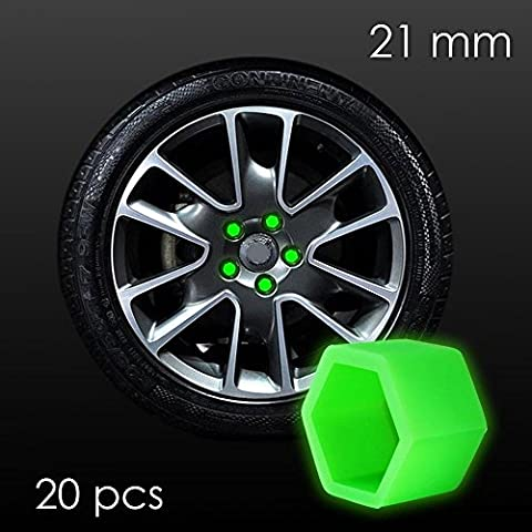 Glow-in-the-Dark 21mm for Car Wheel Nut Bolt Cover
