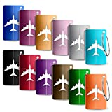 Foonii Viaggio bagagli Tag, 12 Pezzi Valigia bagagli Bag Tag Alluminio ID viaggio borsa Tag Etichette per Valigia Tag, Viaggio Holiday Deposito bagagli Tag-pezzi (Colore diverso)