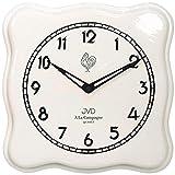 JVD TS2615.1 Küchenuhr Wanduhr Küche Quarz analog Keramik weiß Keramikuhr