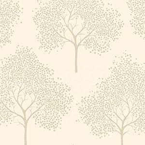 I Love Wallpaper Papier peint à Paillettes arbre Crème/or 6548744 (Paillettes)