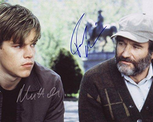 Good Will Hunting - Matt Damon & Robin Williams Autogramme Signiert 21cm x 29.7cm Foto Plakat -