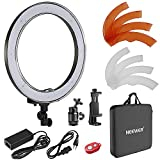 Neewer 18-Pulgada Regulable Exterior SMD LED Anillo de Luz Kit con Filtros de Color, Soporte Giratorio para Teléfono, Adaptador de Zapata Caliente y Bolsa para Selfie Portrait Youtube Video Shooting