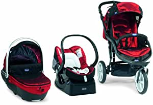 Chicco 4079501720000 - Travelsystem Trio S3 Top Black, colore: Rosso