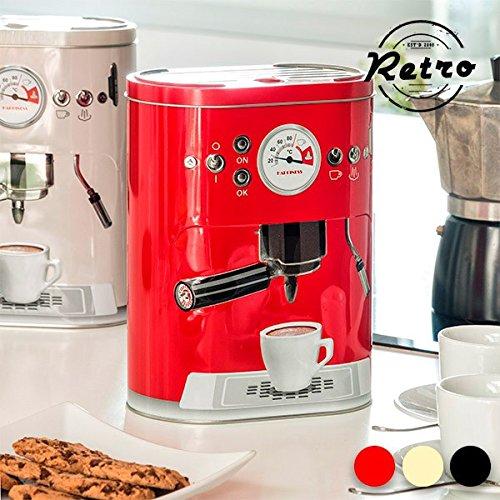 Boîte Métallique Vintage Coffee Machine