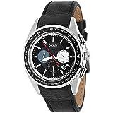 DKNY NY1488-Reloj de Pulsera de Hombre, Correa de Piel Color Negro
