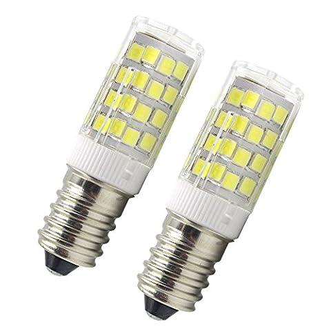 E14 LED Lampe 6W 45W Halogenlampen 220V 450LM Kaltweiß 6000K SES Birne Kleine Edison Schraube Glühbirne 51x SMD2835 für E14 LED Leuchtmittel Birnen (2er Pack)