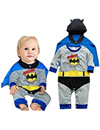 Ensemble déguisement 2 pièces modèle Batman 3/6 mois ou 70 cm,9/12 mois 80 cm,12/18 mois 90 cm,18/24 mois ou 95 cm