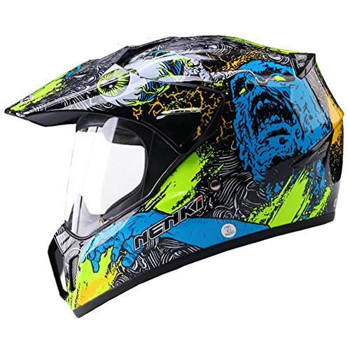 HECHEN Adult Off-Road Helm, Off-Road Fahrradhelm, Strand Motorradhelm,B,XXL
