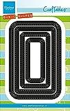 Marianne Design craftables Plantillas de Corte y Embossing,passepartout Punto de Costura básica, para proyectos de Manualidades de Papel, Metal, Gris, 120x190