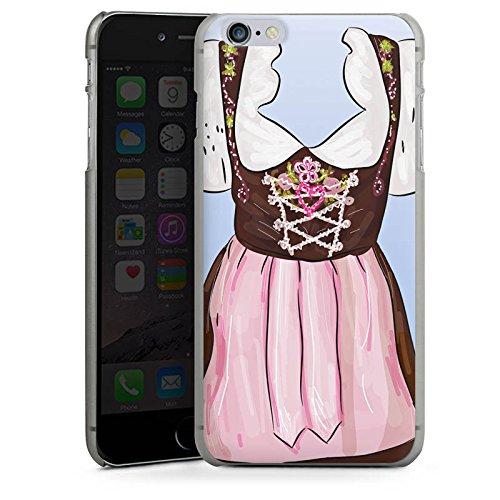 Apple iPhone 6 Housse Étui Silicone Coque Protection Fête de la bière Costume tyrolien Motif CasDur anthracite clair