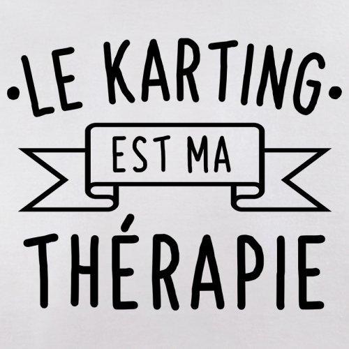 Le karting est ma thérapie - Femme T-Shirt - 14 couleur Blanc