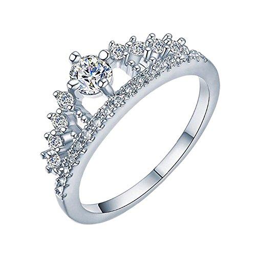 Doitsa Band Ring Zirkonia Silber Krone Ring für Ewigkeit Frauen Damen Mädchen