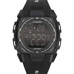 All Blacks - 680132 - Montre Homme - Quartz Digital - Cadran Noir - Bracelet Plastique Noir