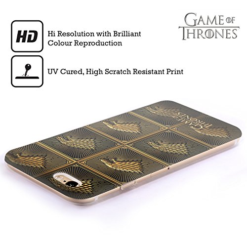Offizielle HBO Game Of Thrones All Houses Golden Sigils Soft Gel Hülle für Apple iPhone 6 Plus / 6s Plus Stark