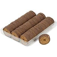 COM-FOUR® 50x Bolitas hinchables de coco, bastones hinchables para el crecimiento y