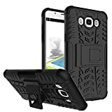 Chevron Hybrid Military Grade Armor Kick Stand Back Cover Case for Samsung Galaxy On8 (Black)