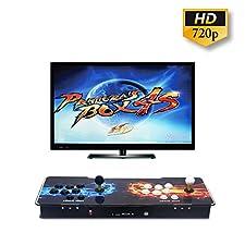 Wisamic Pandora's Box 4S 2 Players Joystick Arcade Console avec 800 jeux d'arcade, compatible avec HDMI et VGA, 1280*720 HD