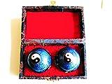 Qi Gong Kugeln, Yin Yang blau, 40 mm