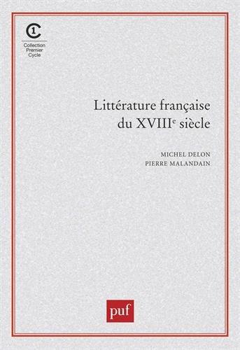 Littérature française du XVIIIe siècle