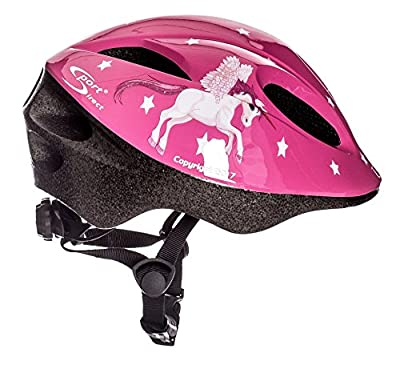 "Sport Direct™ ""Flying Unicorn"" Bicycle Helmet Kids Girls Pink Unicorn 48-52cm CE EN1078:2012+A1:2012 from Sport DirectTM"