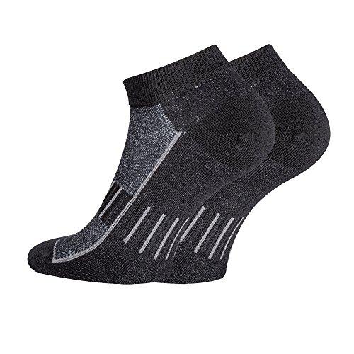 TippTexx24 FussFreunde, 6 Paar Sport-Sneakersocken, Fast unsichtbare Socken mit antibakterieller Ausstattung und Anti-Loch-Garantie (43/46-9 Paar, Black)