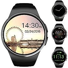 Smartwatch Teléfono Mate, Smart Watch para las mujeres, Smart Watch Fitness Tracker / Notificaciones de sincronización / cámara remota (Negro)