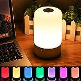 SOLMORE LED Nachtlicht Kinder Touch Control Smart Nachttischlampe Schreibtischlampe Nachtlichter 256 RGB-Farbwechsel & Dimmbares Multifunktionale USB-Aufladung für Geschenk Zimmer Deko