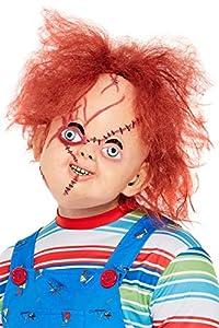 Smiffys 50264 - Máscara de látex con licencia oficial de Chucky, para hombre, color marrón