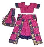 Bharatnatyam Dress (8-10 YRS, Pink)