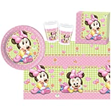 Procos 10108564B - Set para fiesta infantil - Disney Baby Minnie, tamaño S, 37 piezas