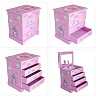 "Girls Pink ""Lilly"" Musical Fairy Jewellery Box by Mele & Co."