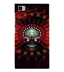EPICCASE Red danger skull Mobile Back Case Cover For Xiaomi Mi3 (Designer Case)