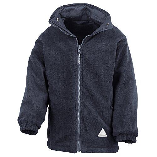 Result Junior/youth reversible StormDri 4000 fleece jacket Navy/ Navy 2XS Youth Reversible Jacket